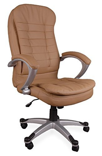 eMarkooz(TM) Manager Chair Executive Chair office Chair Boss Chair Swivel Leather Computer Desk Chair (Luxury Double Padd Brown)