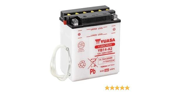 Batteria YUASA yb14/a 12/V//14ah A2 per Polaris Sportsman 450/anno di costruzione 2007 dimensioni: 136/X 91/X 178