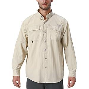 41Vgsr6 bNL. SS300  - NAVISKIN Men's UPF 50+ Sun Protection Outdoor Long Sleeve Shirt Lightweight Quick-Dry Cooling Fishing Shirts