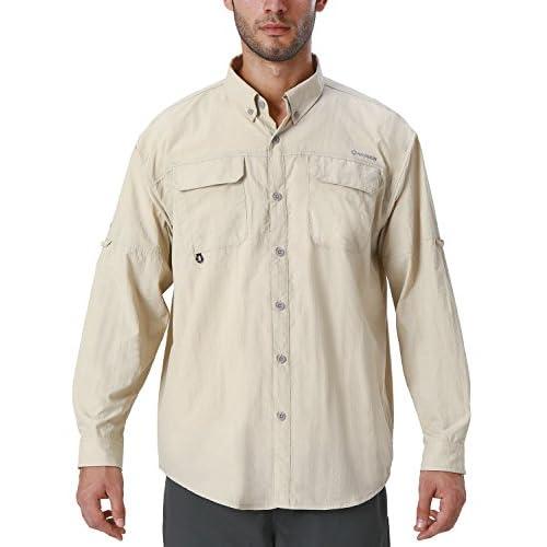 41Vgsr6 bNL. SS500  - NAVISKIN Men's UPF 50+ Sun Protection Outdoor Long Sleeve Shirt Lightweight Quick-Dry Cooling Fishing Shirts