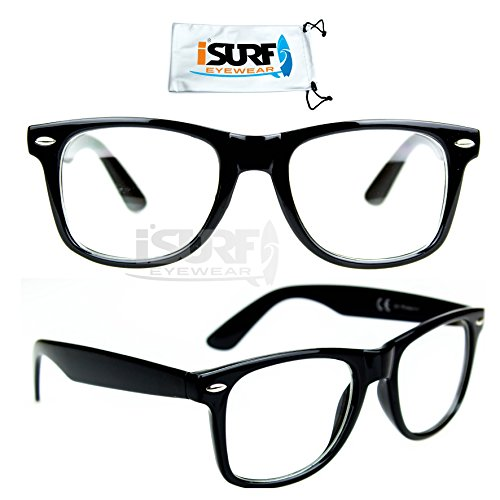 occhiali-da-vista-non-graduati-ray-nerd-riposanti-montatura-de-filippi-depp-ban-nero-wayfarer