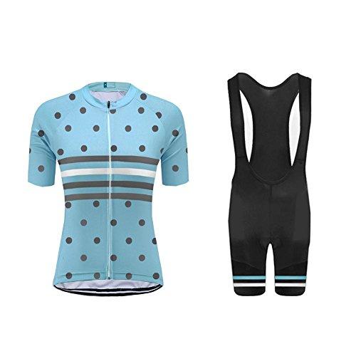 Uglyfrog+ Damen Trikot Set Sportanzug Kurzarm Zip Slim Fit Kurz Hülse Top Hemd Short Pants Outdoor Fahrrad -