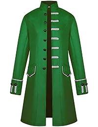 Geilisungren Damen Vintage Zweireiher Smoking-Jacke Mittelalter Gothic Steampunk Gehrock Uniform Karneval Party Frack Outwear Gro/ße Gr/ö/ßen Unregelm/ä/ßiger Saum Lang M/äntel