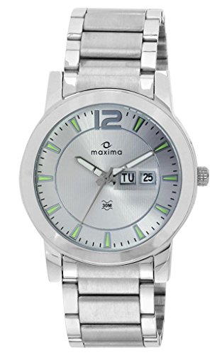 Maxima Attivo Analog Silver Dial Men's Watch - 24902CMGI image