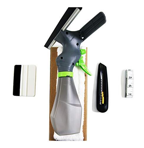 hidbea wm-tmgj-kit3in1Installation Werkzeug Schnitt Folie leicht Fenster Reiniger, Mikrofaser Pad, Rakel Scrubber, Spray Flasche, Maßband, Universalmesser, komplett Glas Tint Application Kit