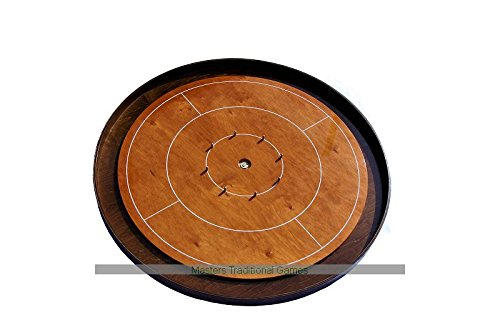 Masters Crokinole Tournament Board - Beech and Walnut