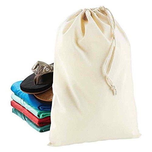 Baumwolle Stuff Tasche Westford Mill Seil Kordelzug Verschluss 100% Baumwolle, schwarz, xl (Handtasche Schwarz Kooba)