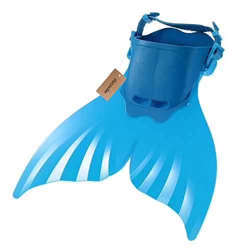 Docooler Schwimmflosse, Meerjungfrau, Taucherflosse für Kinder, Delfinflosse, Monoflosse