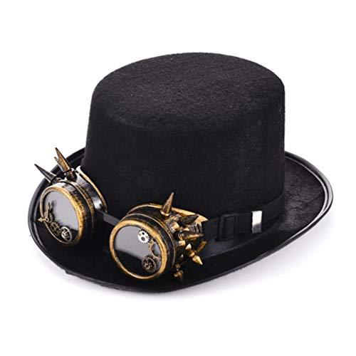 Für Kostüm Retro Erwachsene Pilot - DETZFSWBG Steampunk Hüte Gothic Kostüm Vintage Retro Cosplay Zubehör Handmade Mens Hat