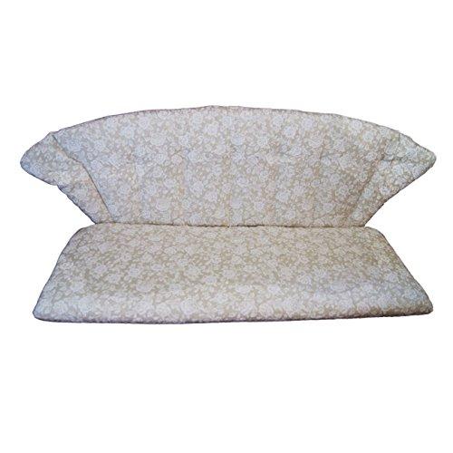 Polsterauflage OUTLIV. für Gartenbank Royal Garden Elegance, Siena Garden Romaneo - Blumen-Muster - Niederlehner Stuhlauflage Sesselauflage Sitzauflage Garten