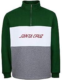 Santa Cruz Suéter con Cremallera Strip Panel Forest