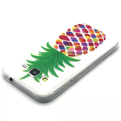 Für iPhone 6 Plus/6S Plus (5,5 Zoll),Sunrive Schutzhülle Etui Hülle Ultra Thin TPU transparent Silikon Rückschale klar Silicon Cover Tasche Case Bumper Abdeckung Handyhülle(Ananas)+Gratis Universal Ei Ananas