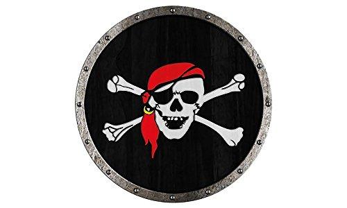 Rundschild Pirat Holzschild, Holz , Schutzschild - Holz-rundschild