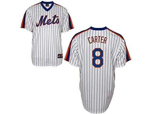 Majestic MLB Baseball Trikot Jersey New York Mets Gary Carter #8 Cooperstown (S)