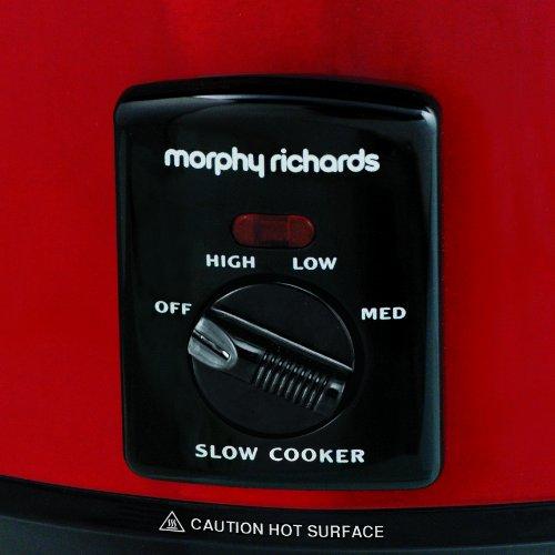 Morphy Richards Slow Cooker 48702 rot, 3,5l mit Schmorfunktion