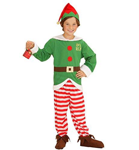 Widmann 00005 - Kinderkostüm Santa's Kleiner Helfer, Kasack, Hose, Hut, Gröߟe 116