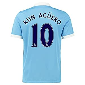 2015-16 Man City Home Shirt (Kun Aguero 10)