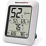 ThermoPro TP50 Termometro Igrometro Digitale, Termoigrometro Interno Professionale, Misura Ambiente Temperatura e umidità per Casa, Stanza Bambino, comodità Ufficio, Display LCD