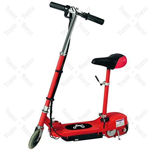 New 2017 Electric E Scooter Ride on Rechargeable Battery Removable Seat Kids Toys Ride On Cars 120W 24V Scooters (RED WITH SEAT)