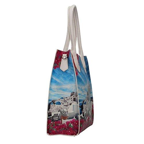 YNOT? J-375 Shopping Bag Damen white party