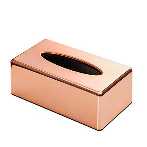 Chrom Tissue Box Cover (Baogu Tissue Box ABS Kosmetiktuecherbox Taschentuchspender Kosmetiktuch Taschetuch 13.8 × 25 × 9.1cm)