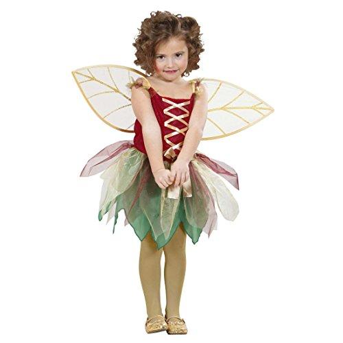 NET TOYS Elfenkostüm Kinder Waldfee Kostüm 98 cm 1-2 Jahre Elfenkleid Kinderkostüm Märchenkleid Fee Feenkostüm Mädchenkleid Mädchen Elfen Verkleidung Kinderkostüme Karneval Feen