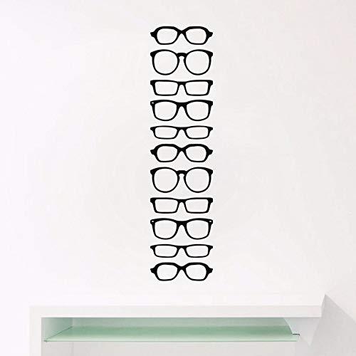 Brillen Vinyl Wandaufkleber Gläser Shop Tür Und Fenster Glas Art Deco Decals, Brillengestell Abnehmbare Vinyl Aufkleber 115 * 30 Cm