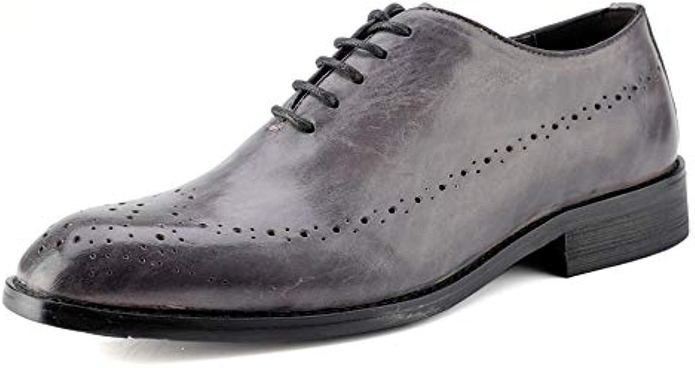 Men's Fashion Oxford Casual Casual Casual British Style Classic Retro Brush Coloree Brogue scarpe   | In vendita  483b47