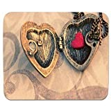 Elmax India Heart Locket Mouse Pad, Speed-Type Precision Gaming Mouse Pad, Non Slip Base