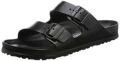 Birkenstock Arizona EVA, Unisex-Erwachsene Pantoletten, Schwarz (Black), 44 EU