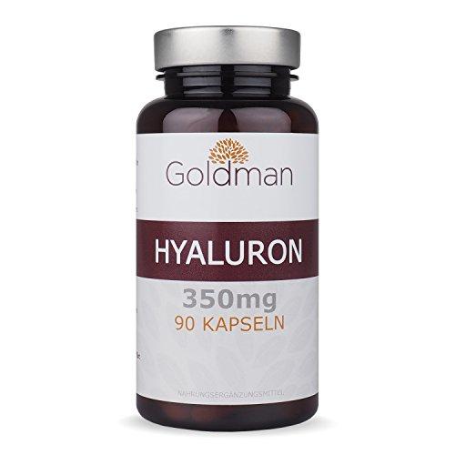 Hyaluronsäure Kapseln hochdosiert - 350 mg je Hyaluron Kapseln - 90 Stück - Anit-Aging für Haut und Gelenke - Vegan - Made in Germany -...