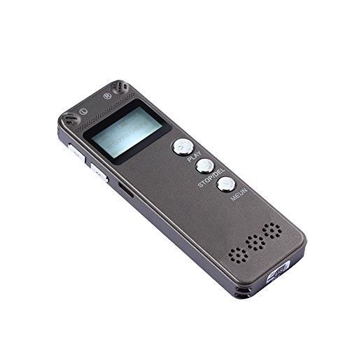 Voice-activated Mini-recorder (comaie Voice Recorder, 8GB Digital Sound Recorder, MP3-Player Audio Recorder Diktiergerät, Stimme aktiviert Aufnahme, intelligente Automatisches Speichern)