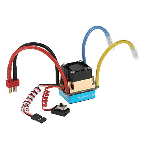 Coomir 1397/5000 Wasserfest 320A gebürstet ESC Electronic mit 5V / 3A BEC T-Plug für 1/10 RC Car