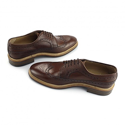 John White WROXTON Mens Leather Oxford Brogue Shoes Brown brown
