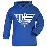 Cloud City 7 Blade Runner Inspired Rep Detect Logo Baby and Kids Hooded Sweatshirt