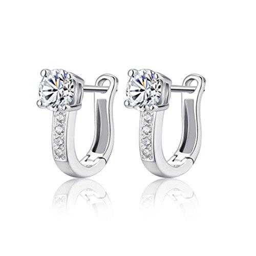 time-pawnshop-elegant-simple-u-shaped-sterling-silver-cubic-zirconia-lady-hoop-earrings