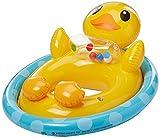 Duck Shape See Me Sit Pool Float; Inflatable Kiddie Swim Water Ring Tube