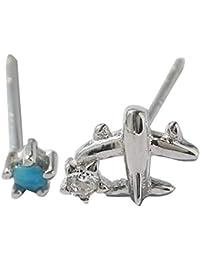 33791b11f883 Pendientes Aviones de plata esterlina pendientes asimétricos linda dulce  estudiante fresca hembra