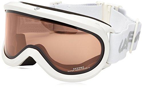 Carrera maschera da sci per occhiali spalline Skermo Otg, bianco/shiny/rosa Polar, M002747AX994L