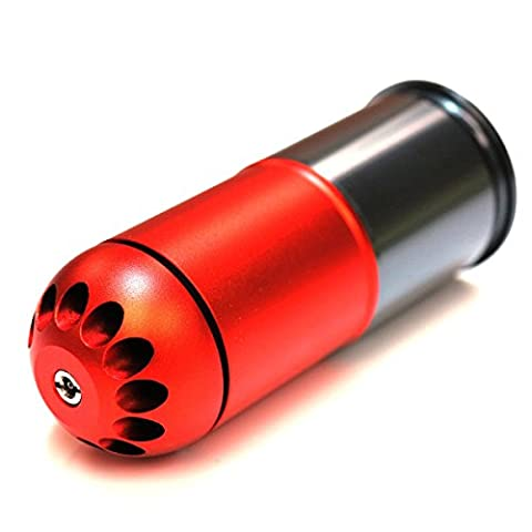 Airsoft Wargame Tactical Shooting Gear SHS 120rd 40mm Grenade Gas Cartridge Shell Red/Grey