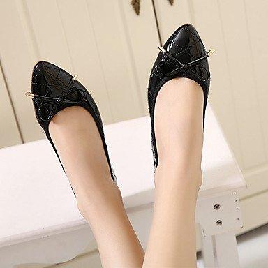 Confortevole ed elegante piatto scarpe donna Appartamenti primavera / estate / autunno casual tacco piatto Bowknot / Mandorla Red