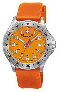 Wenger - 79303 - Montre Homme - Quartz - Chronographe - Bracelet cuir Orange