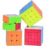 Smartcraft Premium Cube Gift Set, Speed Rubik's Cube Bundle - 2x2 3x3 4x4 5x5 Stickerless Cube Gift Set (4 Piece)