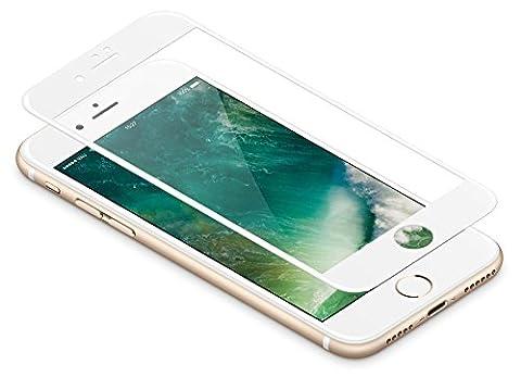 iPhone 8 PLUS / 7 PLUS Panzerglas weiß, vau Glas Pro für iPhone 8 PLUS / 7 PLUS – Panzer-Folie, Display-Schutzfolie deckt gesamte Front (Glas Iphone)