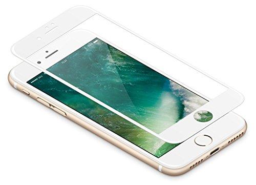 vau Panzerglas Pro für iPhone 8 / iPhone 7 – Panzer-Folie, Display-Schutzfolie deckt gesamte iPhone7 iPhone8 Front ab ( weiß )