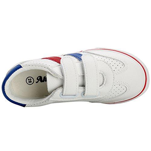 Alexis Leroy Freizeit Kinderschuhe Mädchen Jungen Stoffschuhe Low-Top Sneakers Weiß