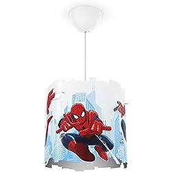 Philips Marvel Spiderman - Lámpara colgante blanca, iluminación interior, luz blanca cálida