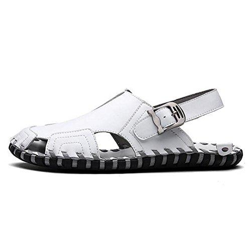 Man's Fashion Sommer Bequeme Belüftung Sandalen Hausschuhe (Multi Style Auswahl) white 33099 R560Bf8KR