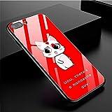 Wolfsay Handy Hülle Hard Case für Apple iPhone x 7 8 Cartoon Tier Bild gehärtetem Glas Telefon Fall für Apple iPhone 7 Plus 8 Plus zurück Abdeckung