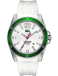 Lacoste 2010664 - Reloj analógico de cuarzo para hombre con correa de silicona, color blanco